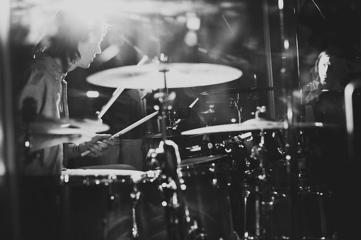 Great shot of a drummer