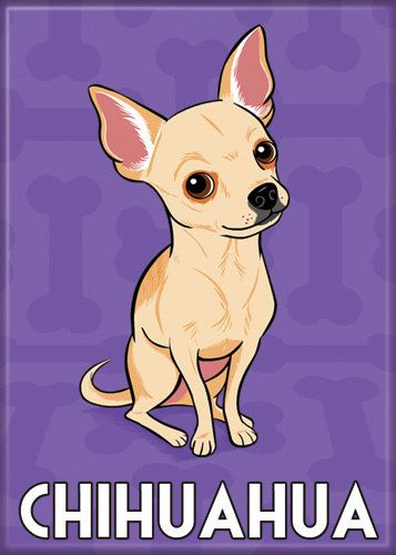 Magnet Chihuahua by doggiedrawings on Etsy, $4.00