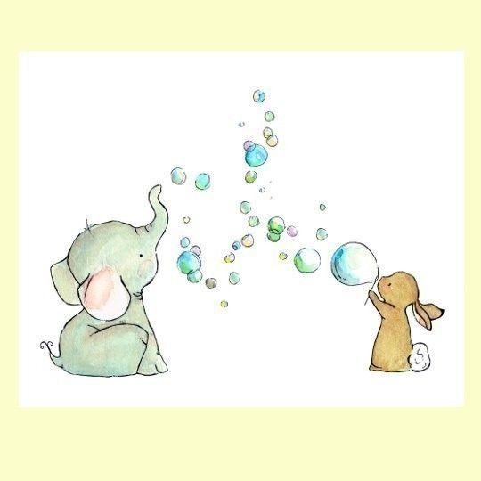 Elefant und Hase Seifenblasen