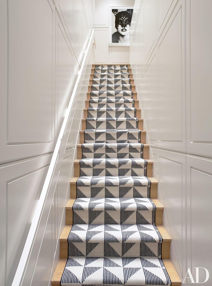 The graphic staircase in a Gramercy Park triplex by Eric Cohler.