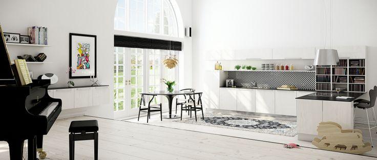 Hvitpigmentert kjøkken fra HTH