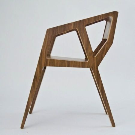 wood architectural chair