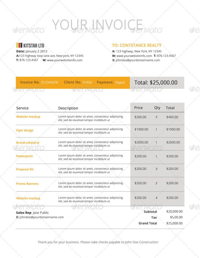 46 best Invoice Design images on Pinterest Stationery, Badge - contract invoice