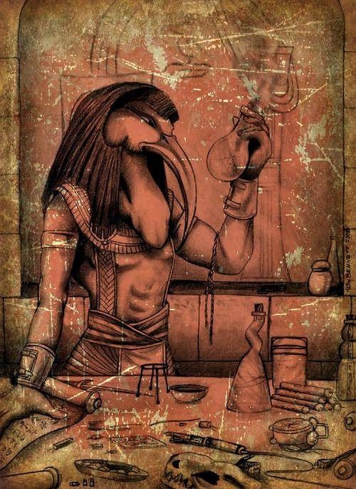 Thoth is the Egyptian god of the mind - of intelligence, thinking, reason, and logic. Egyptians often thought of Thoth as the heart and tongue of the sun god Ra.