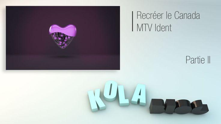 Bonjour,  Dans ce nouveau tutoriel sur kola-blog, nous allons apprendre à recréer dans Cinema 4D le MTV Canada Ident de Nicolas Girard. Rendez-vous…