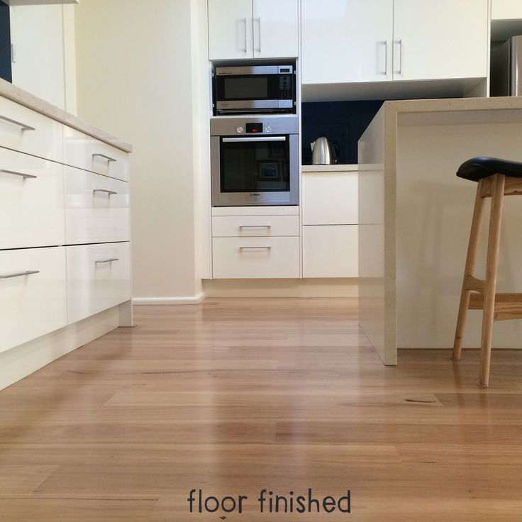 Blackbutt floors finish our new kitchen. Fiona Moore