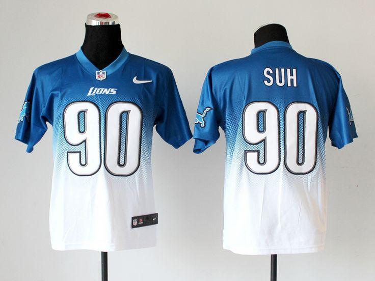 Men's NFL Detroit Lions #90 Suh Drift Fashion Jersey