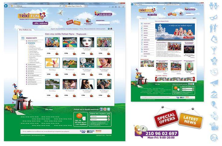 Design of Triki Fun's website by ThinkBAG.