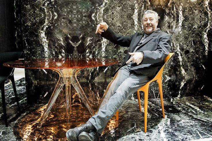 Philippe Starck at Kartell booth