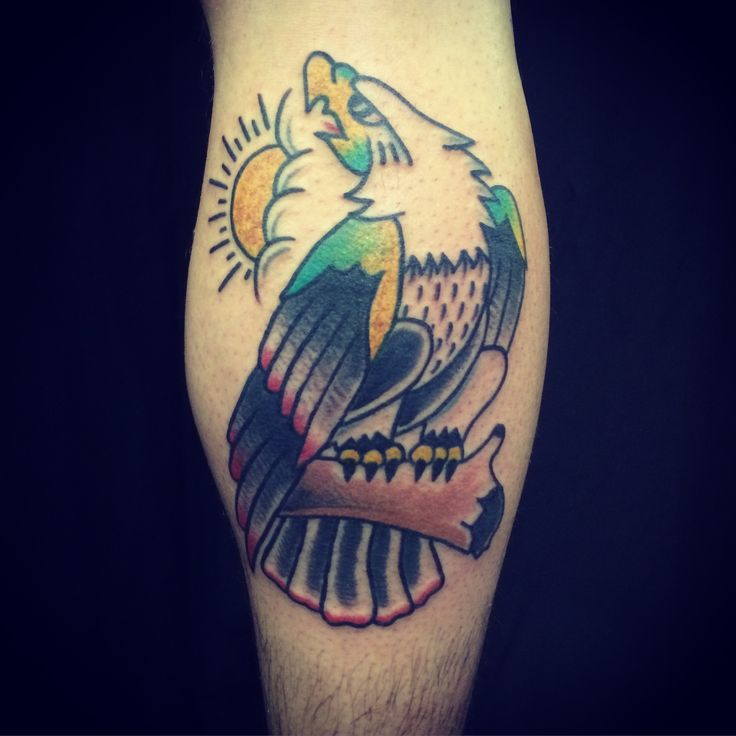Eagle by Philip Botha @diehonest Sins of Style, Cape Town, South Africa. #tattoo #tattoos #traditionaltattoo #traditionaltattoos #capetown #americana