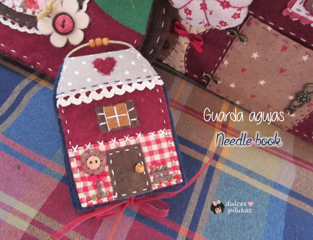 Librito guarda agujas Sweet Home. Tutorial