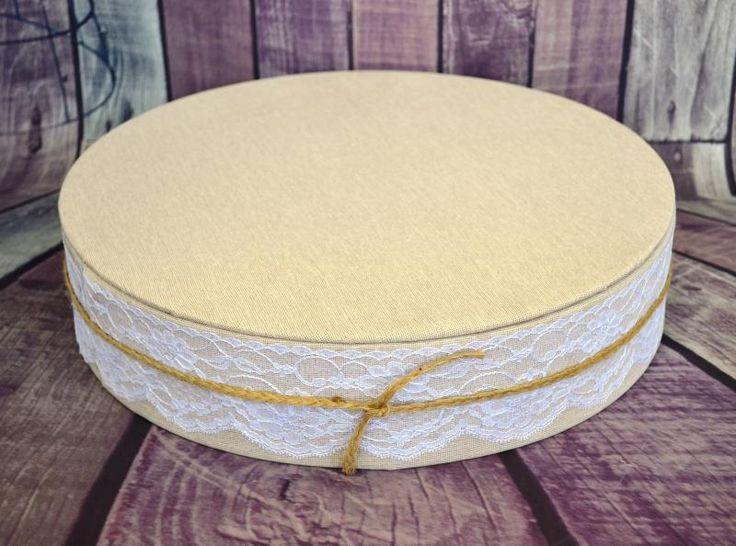Wedding  Rustic Burlap Look Cake Stand- 14 inch - WeddingWish.com.au