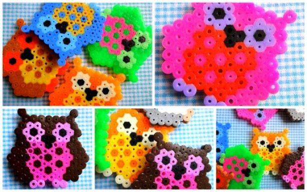 Uiltjes gemaakt van strijkkralen inclusief patroon