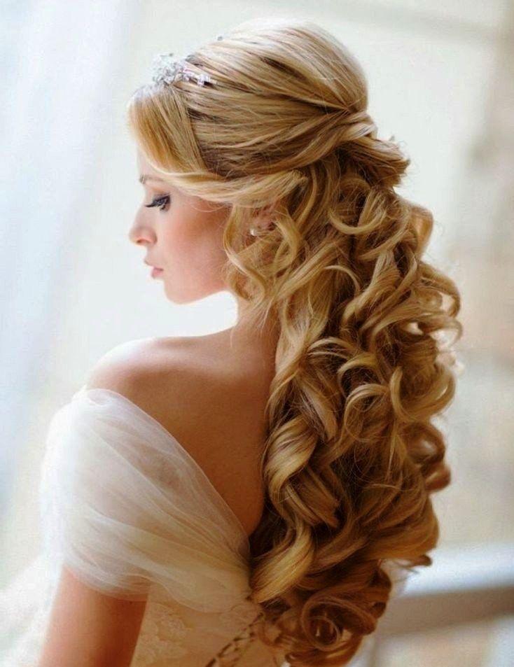 3 Elegant Half Up Half Down Curly Hairstyles 1 Wedding