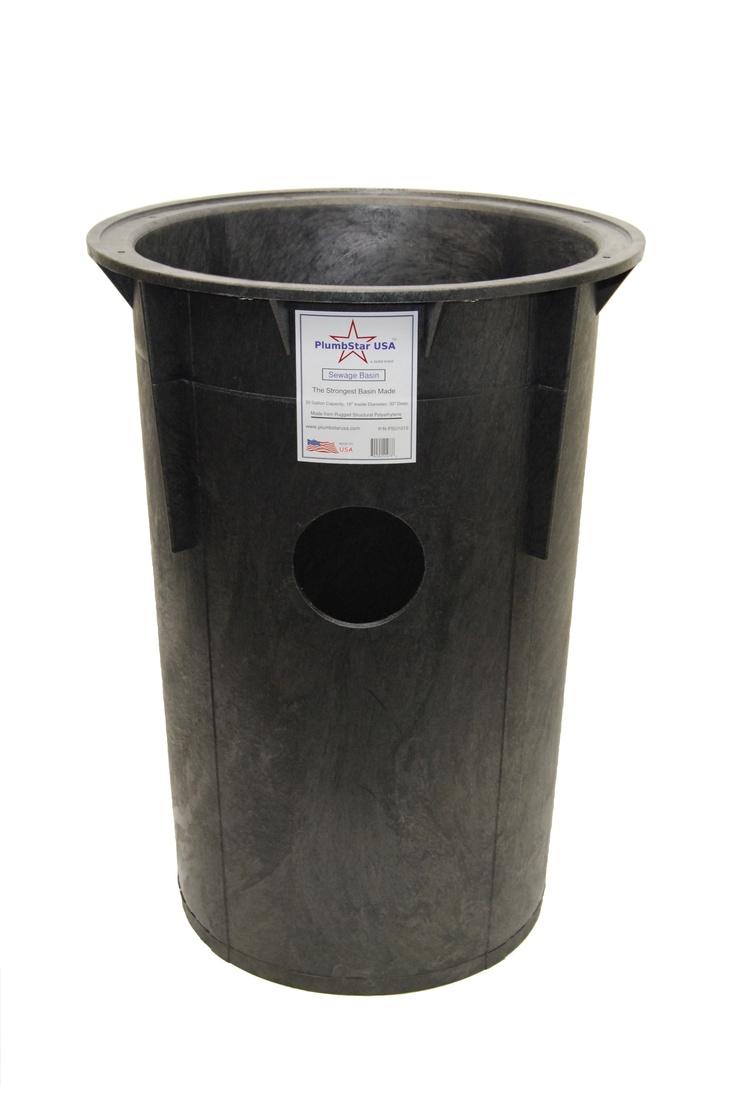 Our 30 Gallon PlumbStar USA Sewage Basin Basin, Sump