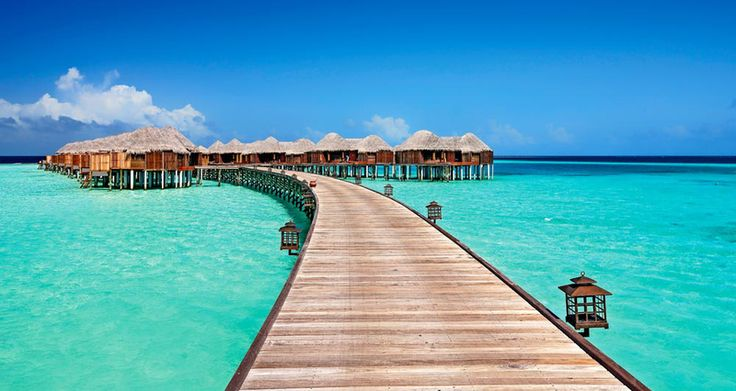Malediven Insel Halaveli - Urlaub im Wasserbungalow auf den Malediven