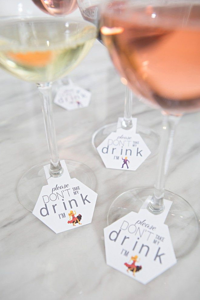 OMG, These DIY Wedding Cocktail Tags Are Way Too Cute!
