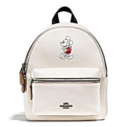 Women's backpack 'Mickey Leather Mini Charlie' in white by Coach at Wertheim Village