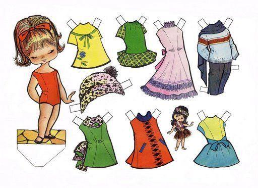 muñecas recortables de papel   ... encantaba jugar era con mis muñecas recortables, muñecas como estas