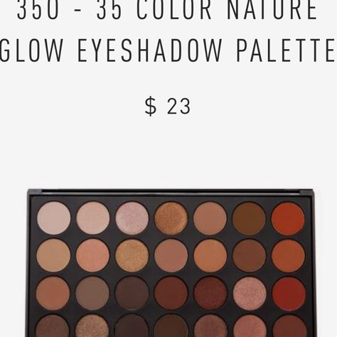 Morphe eyeshadow palette 35 color nature glow