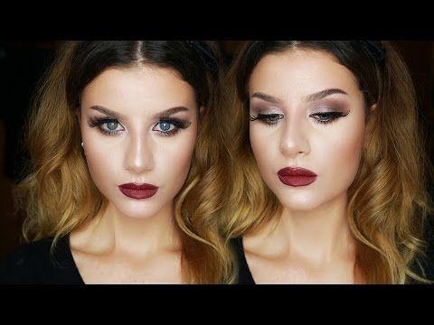FALL Makeup Tutorial Trucco Occhi Marrone Luminoso e Labbra Rosse | None Fashion and Beauty - YouTube