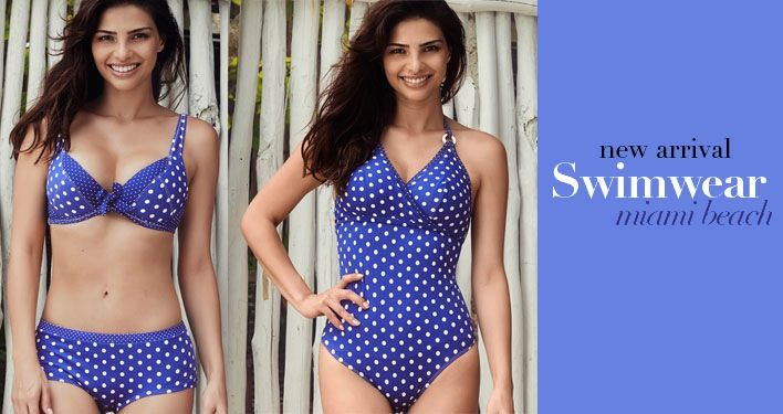 These swimsuits are spot on (sorry, we couldn't resist)! Are you hitting the beach in a bikini or one-piece this year? New Arrival: Miami Beach