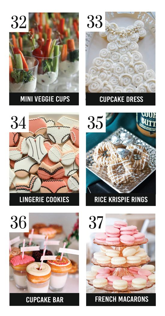 Best Bridal Shower Food Ideas