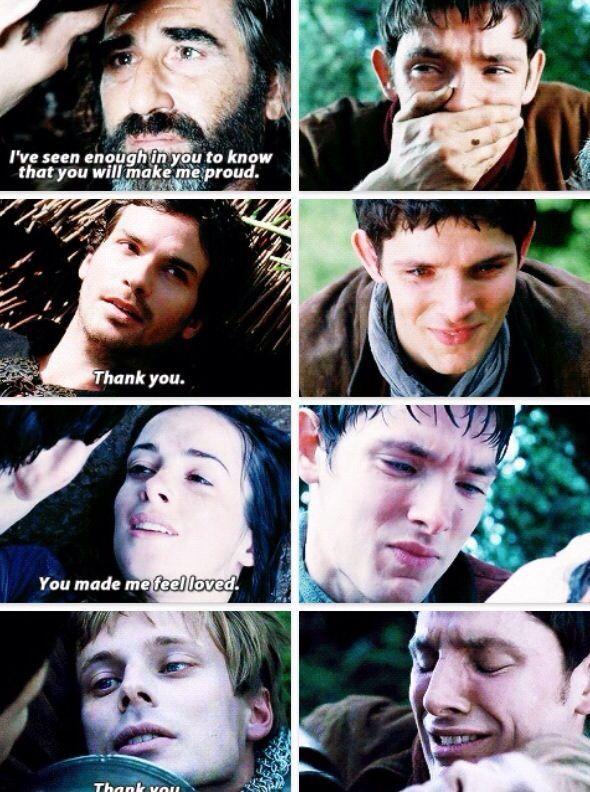 Merlin seeing everyone he loved die in his arms<<thx m8