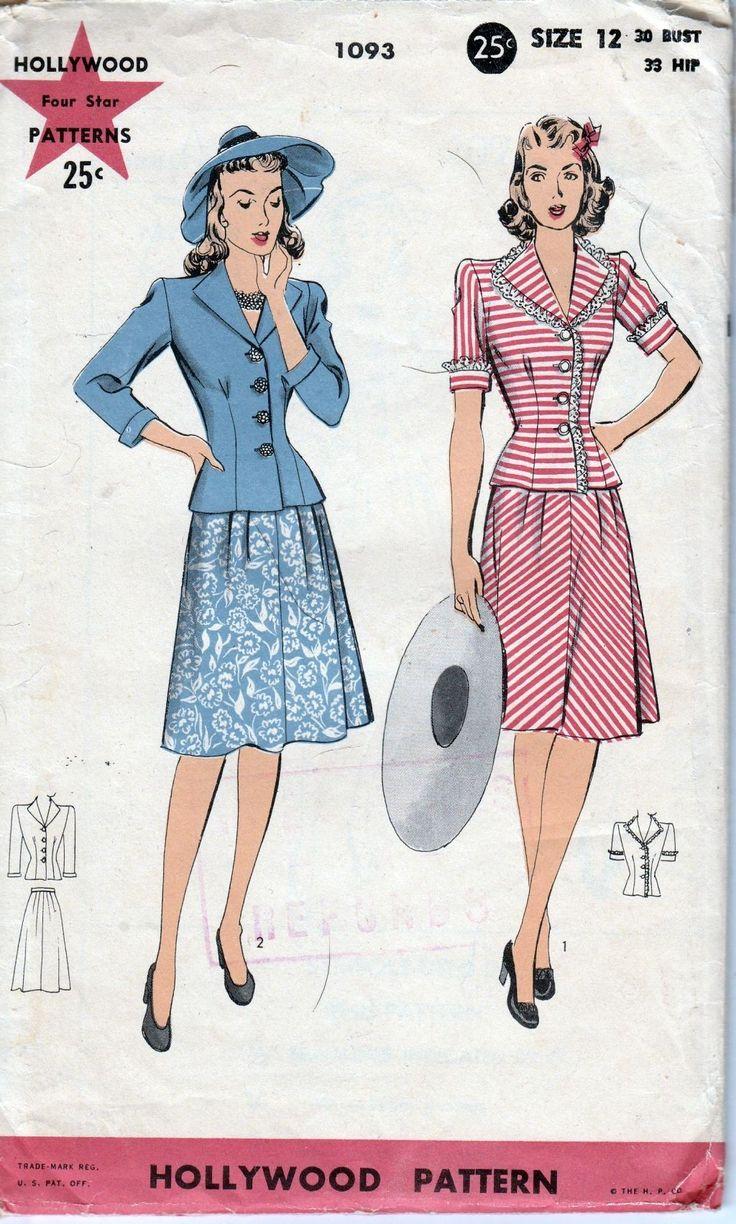 136 best vintage sewing patterns 1940s 1950s images on hollywood 1093 ladies dress vintage pattern 1940s jeuxipadfo Choice Image