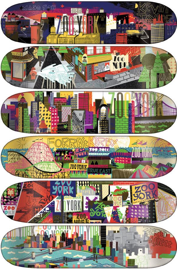 This one is kind of related to my final production.    This is a collection Zoo York skateboards, a company established in the early 90's focusing on the social philosophy of New York graffiti.  The brand has always had a team the represented the personality and rawness of the city streets.  Also their board graphics have always been a big indicator of that.  Sadly Zoo York has announced it is dropping its skate team except for their two youngest riders.  Does this mean the legacy is over?