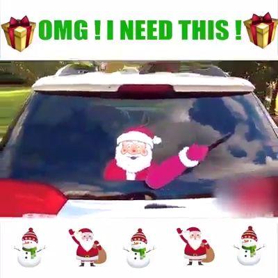 Weihnachten Halloween Auto Heckscheibe Dekoration Aufkleber Aufkleber   – Bastelidee