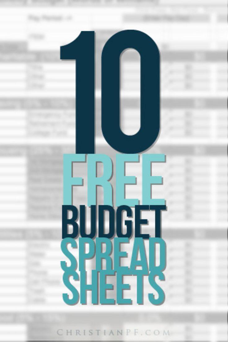 10 Free Household Budget Spreadsheets http://christianpf.com/10-free-household-budget-spreadsheets/ Money Saving Tips #money