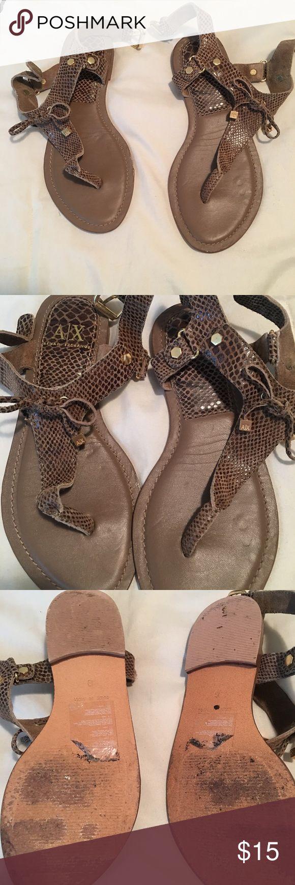 A|X sandals Pre-loves Armani Exchange sandals, have lots of life left! A/X Armani Exchange Shoes Sandals