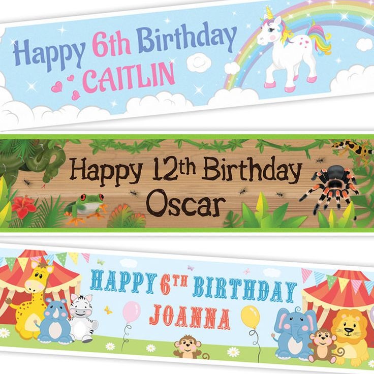 2 Personalised Banners. Personalised banner. 1200mm x 297mm.   eBay!