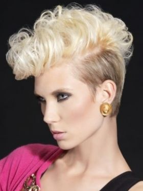 styles of hair for 30 best curly hair mohawk images on mohawks 8186