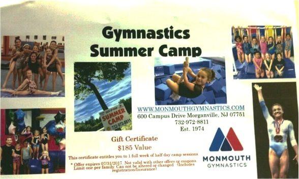 Gymnastics Summer Camp valued at $185.00