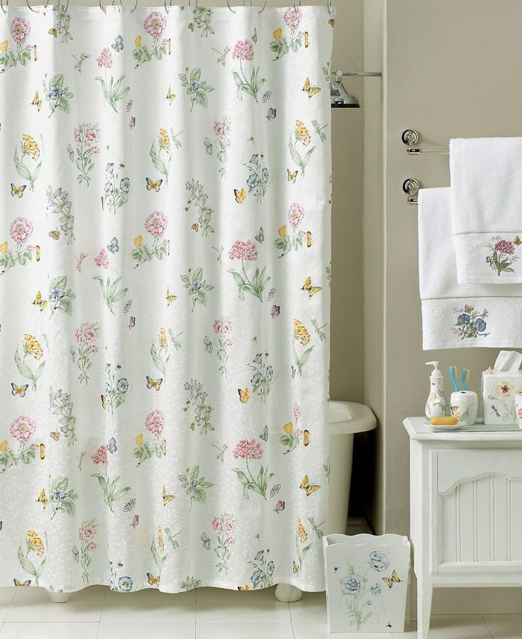 Lenox Bath Accessories Butterfly Meadow Shower Curtain