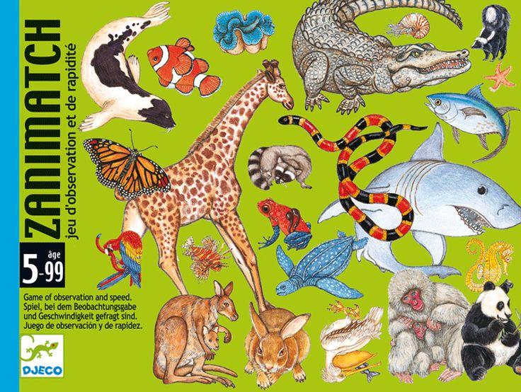Zanimatch - gyorsulási kártyajáték rengeteg állattal (Djeco) | Pandatanoda.hu Játék webáruház