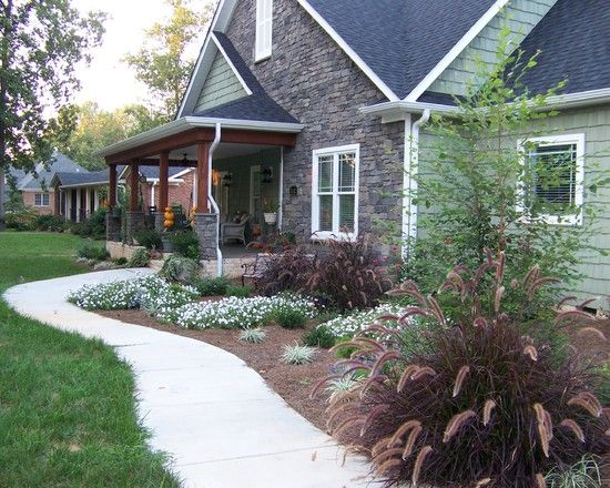 Landscaping prairie style house