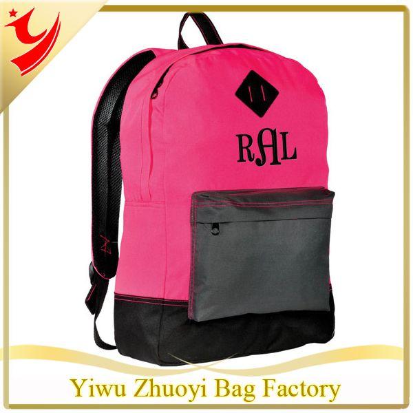 Pink And Black Personalized Backpack Neon Large Monogrammed School Bookbag Teens #Bookbags, #Monogrammed