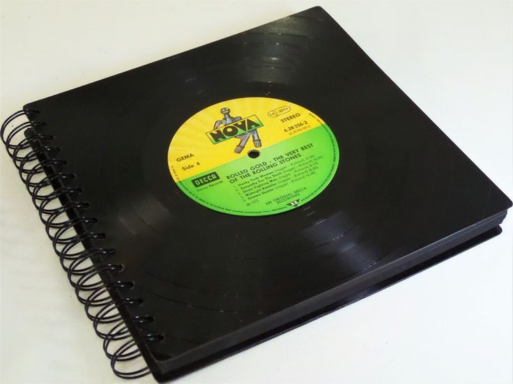 Fotoalben - XXL Fotoalbum Rolling Stones aus Schallplatte  - ein Designerstück von Aurum bei DaWanda