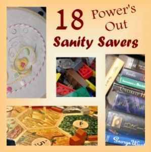 Power's out? Here are 18 great activities for children (and adults) that will keep them busy and happy requiring no electricity!