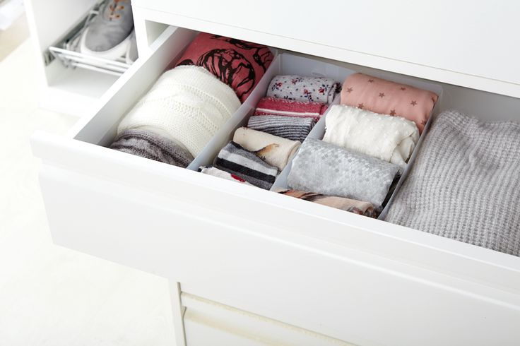 Los organizadores de cajones son la opción óptima para organizar las pequeñas prendas como calcetines, corbatas… - Leroy Merlin