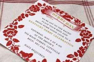 Cute invitations from @etsy: Derby Party, Blonde Latte, Derby Days, Derby 30, Parties, Derby Brunch, Blog, Kentucky Derby, Derby Daze