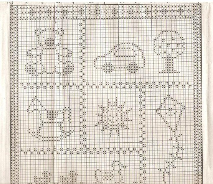 copertina filet bambino (1) - magiedifilo.it punto croce uncinetto schemi gratis hobby creativi