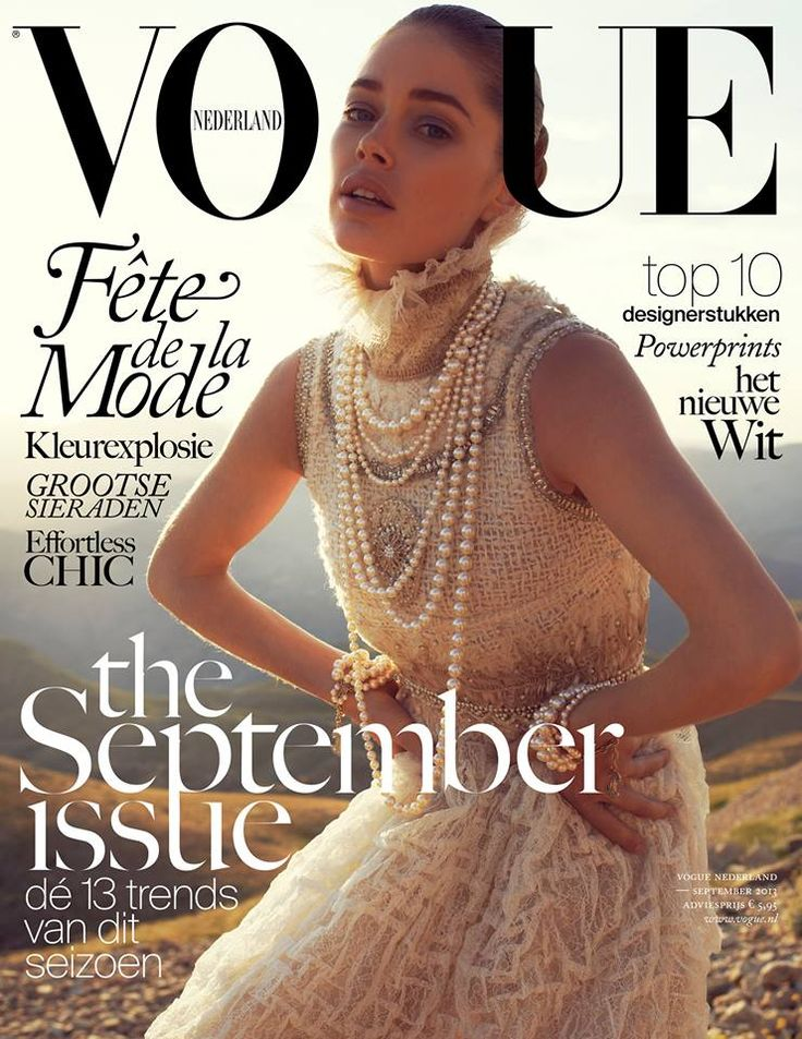 Doutzen Kroes Covers Vogue Netherlands September 2013 in Chanel
