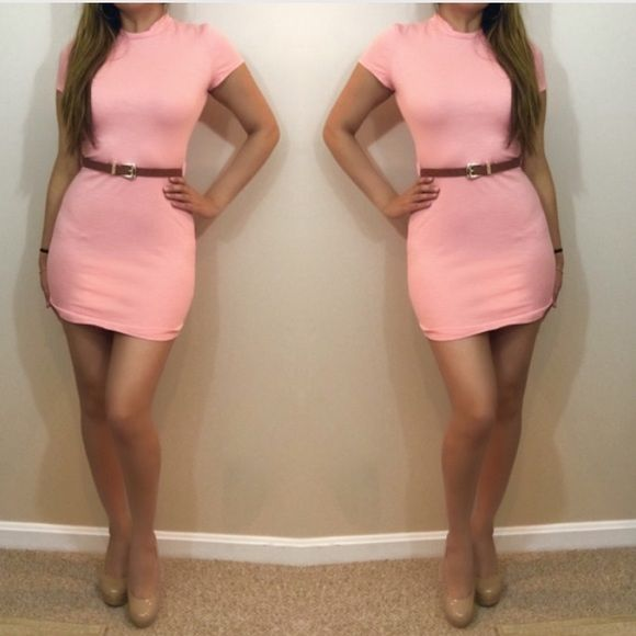Such Gorgeous Colors And Softness: HP Soft Peach Belted Dress RETAIL NWOT : Gorgeous Peach