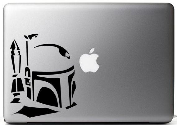 Star wars boba fett 3 4 inspired vinyl decal by nobubbles on etsy 3 75