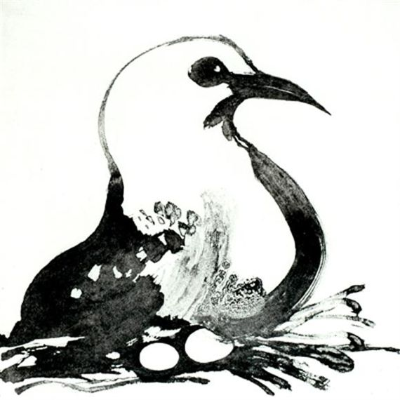 Brett Whiteley - Seagull, 1984, sugarlift aquatint