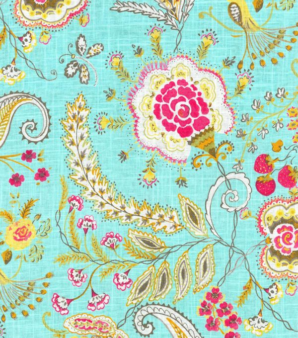 Dena Upholstery Fabric-Hidden Charms/Blossom